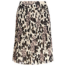 Buy Planet Floral Pleated Skirt, Brown Online at johnlewis.com