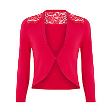 Buy Kaliko Lace Detail Bolero, Pink Online at johnlewis.com
