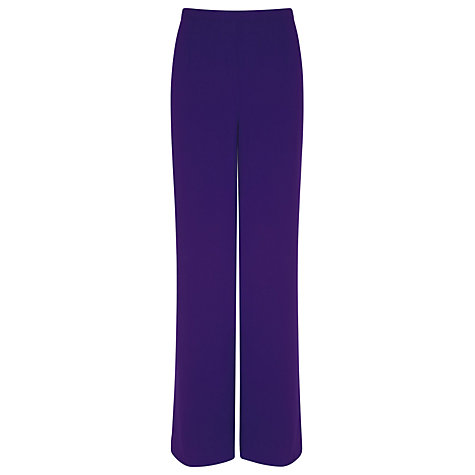 Buy Windsmoor Georgette Trousers, Purple Online at johnlewis.com