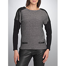 Buy Betty Barclay Tweed Effect Jumper, Black / Cream Online at johnlewis.com