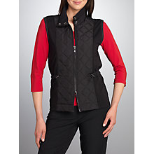Buy Betty Barclay Waisted Pad Gilet, Black Online at johnlewis.com