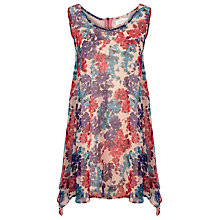 Buy Kaliko Celleste Floral Print Tunic Top, Pink Online at johnlewis.com
