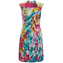 Buy Adrianna Papell Seam Print Dress, Turquoise/Multi Online at johnlewis.com