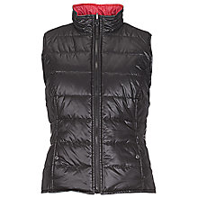 Buy Betty Barclay Reversible Padded Gilet, Black / Red Online at johnlewis.com