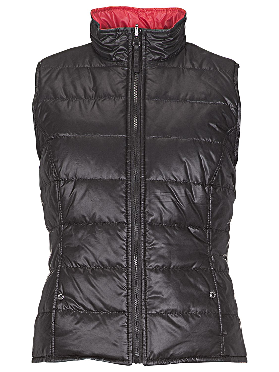 Betty Barclay Reversible Padded Gilet, Black / Red