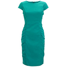 Buy Adrianna Papell Side Ruche Dress, Parrot Online at johnlewis.com