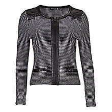 Buy Betty Barclay Tweed Zip Cardigan, Black / Cream Online at johnlewis.com