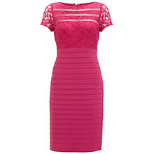 Buy Adrianna Papell Lace Top Jersey Dress, Lipstick Online at johnlewis.com