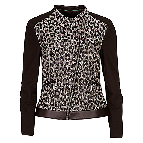 Buy Betty Barclay Jersey Biker, Black / Cream Online at johnlewis.com