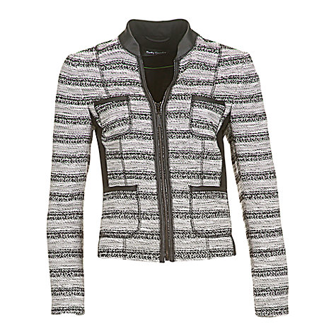 Buy Betty Barclay Cream Tweed Jacket, Cream / Black Online at johnlewis.com