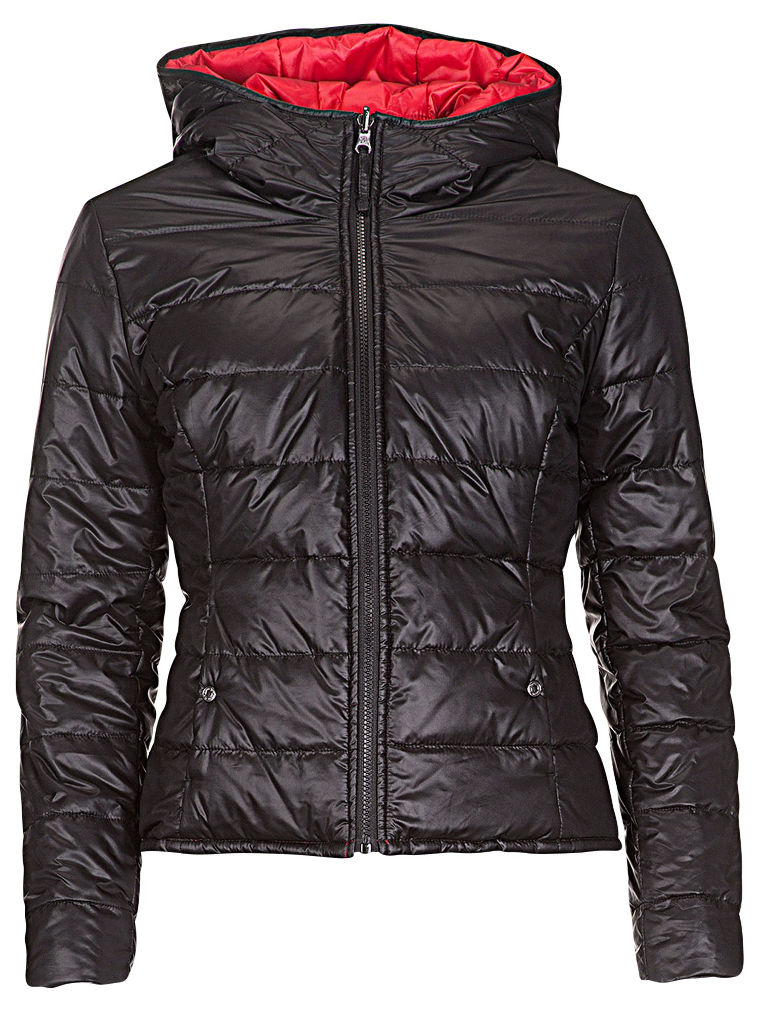 Betty Barclay Reversible Padded Jacket, Black / Red