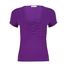 Buy Precis Petite Ruched Top, Purpe Online at johnlewis.com