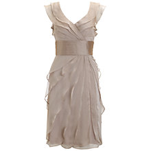 Buy Adrianna Papell Tiered Petal Dress, Fawn Online at johnlewis.com