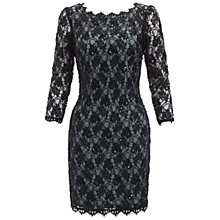 Buy Adrianna Papell Long Sleeve Lace Dress, Slate Online at johnlewis.com