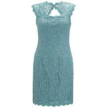 Buy Adrianna Papell Lace Shift Dress, Turquoise Online at johnlewis.com