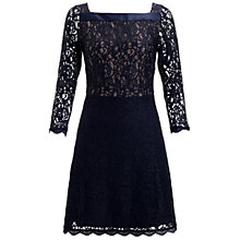 Buy Adrianna Papell A-Line Skirt Lace Dress, Blue Online at johnlewis.com
