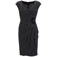 Buy Adrianna Papell Cap Sleeve Dress, Black Online at johnlewis.com