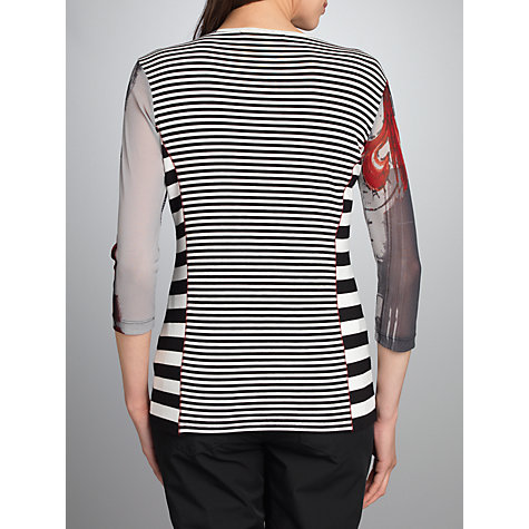 Buy Betty Barclay 3/4 Sleeve Stripe T-Shirt, Black/Cream Online at johnlewis.com