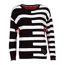 Buy Betty Barclay Stripe Dolman Jumper, Black / Cream Online at johnlewis.com