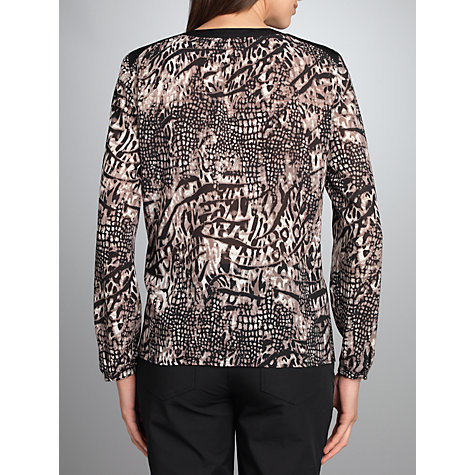 Buy Betty Barclay Animal Chiffon Blouse, Beige / Black Online at johnlewis.com