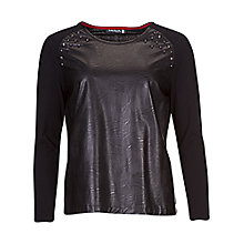 Buy Betty Barclay Pleather Studded Jumper, Black Online at johnlewis.com