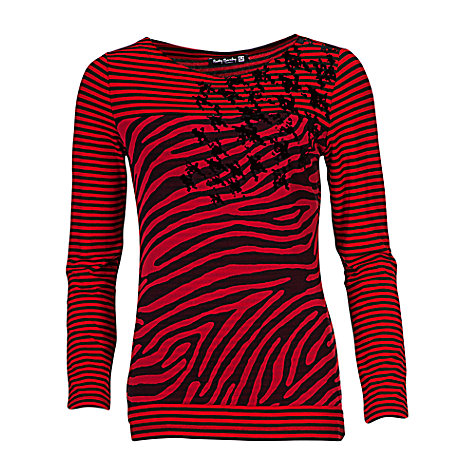 Buy Betty Barclay Stripe Mesh T-Shirt Online at johnlewis.com