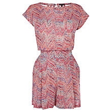 Buy Warehouse Chevron Playsuit, Multi Online at johnlewis.com