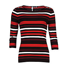 Buy Betty Barclay 3/4 Sleeve Button Top, Black / Red Online at johnlewis.com