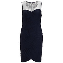 Buy Adrianna Papell Tulle Necklace Dress, Ink Online at johnlewis.com