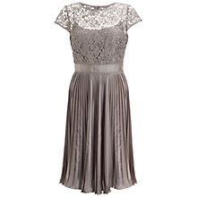 Buy Adrianna Papell Bodice Dress, Buff Online at johnlewis.com