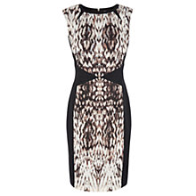 Buy Warehouse Blurred Print Dress, Black Online at johnlewis.com