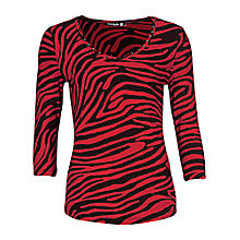 Buy Betty Barclay 3/4 Sleeve T-Shirt, Red/Black Online at johnlewis.com