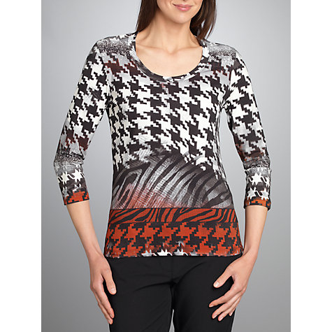 Buy Betty Barclay Herringbone T-Shirt, Cream / Black Online at johnlewis.com