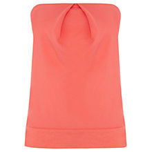 Buy Warehouse Woven Bandeau Top, Coral Online at johnlewis.com