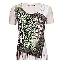 Buy Betty Barclay Bead Print T-Shirt, Beige / Black Online at johnlewis.com