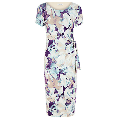 Buy Windsmoor Floral Photographic Dress, Purple Online at johnlewis.com