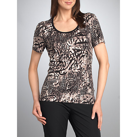 Buy Betty Barclay Animal Short Sleeve T-Shirt, Beige / Black Online at johnlewis.com
