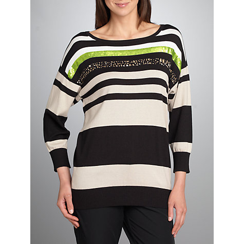 Buy Betty Barclay Stripe Jumper, Black / Beige Online at johnlewis.com