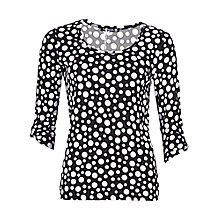 Buy Betty Barclay 3/4 Sleeve Spot T-Shirt, Black/Cream Online at johnlewis.com