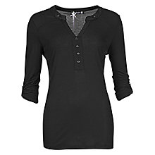 Buy Betty Barclay Button Long Sleeve Tunic, Black Online at johnlewis.com