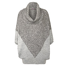 Buy Crea Concept Cowl Neck Contrast Knit Jumper, Grey Online at johnlewis.com