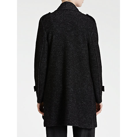 Buy Crea Concept Boiled Wool Long Cardigan, Black Online at johnlewis.com