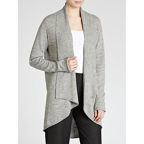 Buy Crea Concept Waterfall Cardigan, Grey Online at johnlewis.com