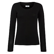 Buy Crea Concept Scoop Neck T-shirt, Black Online at johnlewis.com
