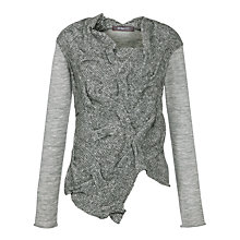 Buy Crea Concept Cable Knit Jumper. Grey Online at johnlewis.com