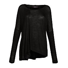 Buy Crea Concept Asymmetric Hem Jumper, Black Online at johnlewis.com