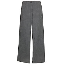 Buy Crea Concept Crinkle Wide Leg Trousers, Grey Check Online at johnlewis.com