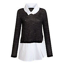 Buy Crea Concept Combination Shirt Jumper, Black Online at johnlewis.com