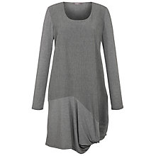 Buy Crea Concept Crinkle Gathered Hem Dress, Dark Grey Online at johnlewis.com