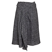 Buy Crea Concept Knee Length Check Skirt, Grey Online at johnlewis.com